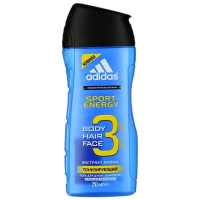 Adidas Body-Hair-Face Sport Energy Гель для душа и Шампунь для мужчин 250 мл