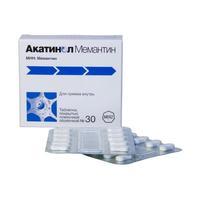 Акатинол мемантин таблетки 10 мг, 30 шт.