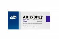 Аккузид таблетки покрыт.плен.об. 12,5 мг+20 мг 30 шт.