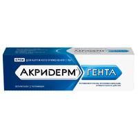 Акридерм гента крем д/нар. прим. 0,05%+0,1% туба 15г