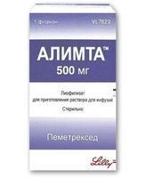 Алимта лиофилизат для пригот. р-ра для инфузий 500 мг флакон 1 шт.