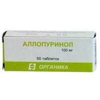 Аллопуринол таблетки 100 мг, 50 шт.