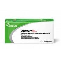 Алмонт таблетки покрыт.плен.об. 10 мг 28 шт.