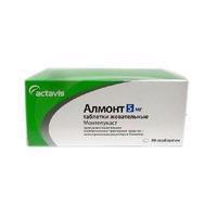 Алмонт таблетки жевательные 5 мг 98 шт.