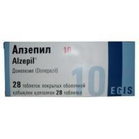 Алзепил таблетки покрыт.плен.об. 10 мг, 28 шт.