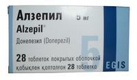 Алзепил таблетки покрыт.плен.об. 5 мг 28 шт.