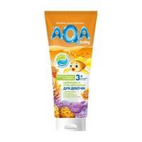 AQA baby шампунь и гель для душа для девочек с протеинами пшеницы 250 мл
