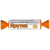 Аскорбиновая кислота крутка таблетки жевательные Апельсин 10 шт.