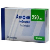 Атифин таблетки 250 мг, 28 шт.