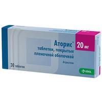 Аторис таблетки 20 мг, 30 шт.