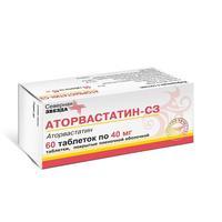 Аторвастатин-СЗ таблетки покрыт.плен.об. 40 мг 60 шт