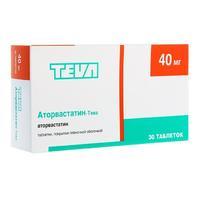 Аторвастатин-Тева таблетки покрыт.плен.об 40 мг 30 шт.