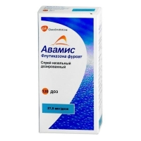 Авамис спрей назальный дозированный 27,5 мкг/доза, 120 до