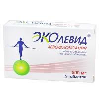 Эколевид (левофлоксацин) таблетки 500 мг, 5 шт.
