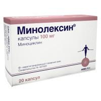 Минолексин капсулы 100 мг, 20 шт.