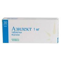 Азилект таблетки 1 мг, 30 шт.