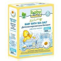 Babyline детская морская соль для ванн с ромашкой в фильтр-пакетах 500 г