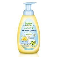Babyline средство для купания и шампунь с маслом оливы для детей с первых дней жизни 500 мл
