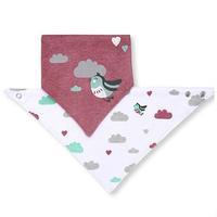 BabyOno нагрудник и шейный платок 2 в 1 Птички 1 шт.