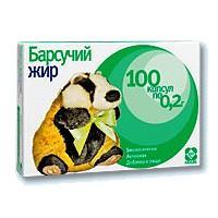 Барсукор барсучий жир капс. 0,2г №100 (бад)