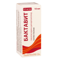 Бактавит капли глаз. 0,5 мг/мл флакон-капельница 10 мл