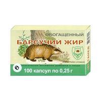 Барсучий жир капсулы 200 мг, 100 шт.