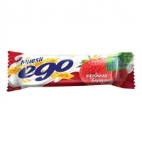 Батончик-мюсли Эго йогурт-клубника, 25 г