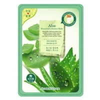 BeauuGreen 3D Essence mask тканевая 3D маска для лица с экстрактом алоэ вера 1 шт.