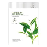 BeauuGreen Антиоксидантная тканевая маска для лица с экстрактом зелёного чая 23г