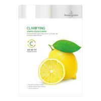 BeauuGreen Очищающая тканевая маска для лица c экстрактом лимона 23г
