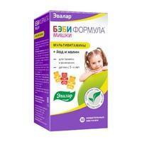 Бэби Формула Мишки Мультивитамины жевательные пастилки 30 шт
