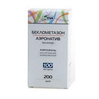Беклометазон-Аэронатив аэрозоль для ингаляций 100 мкг/доза, 200 доз