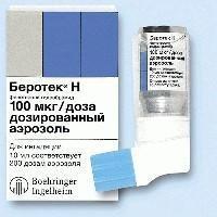Беротек н аэрозоль для ингаляций 100 мкг/доза, 200 доз