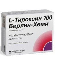 L-тироксин-100 берлин хеми таблетки 100 мкг, 100 шт.