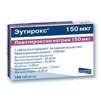 L-тироксин 150 берлин хеми таблетки 150 мкг, 100 шт.