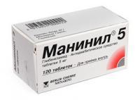 Манинил 5 таблетки 5 мг, 120 шт.