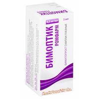 Бимоптик Ромфарм капли глазные 0,3 мг/мл флакон 3 мл