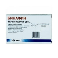 Бинафин таблетки 250 мг, 14 шт.