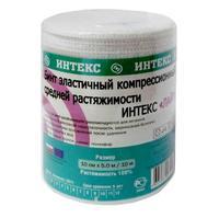 Бинт Интекс-Лайт эластичный компрессионный СР 5,0 м х 10 см с застежкой 1 шт. 1 шт.