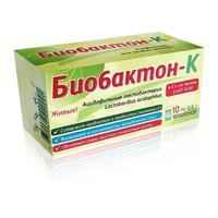 Биобактон-К лиофилизат для приёма внутрь 0,5 г флаконы 10 шт.