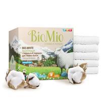 BioMio Bio-White Экологичный стиральный порошок-концентрат для белого белья без запаха 1,5 кг