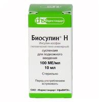 Биосулин Н суспензия для п/кожн.введ.100 МЕ/мл флакон 10 мл 1шт. упак.
