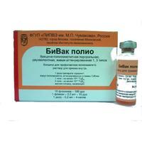 БиВак полио (Вакцина полиомиелит перорал. двухвалентная, живая аттенуиров.1,3 типов) 0,2мл/доза 10 шт.