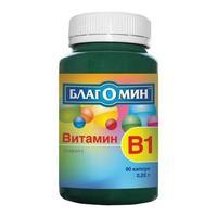 Благомин витамин B1(тиамин) капсулы 0,25 г 90 шт.