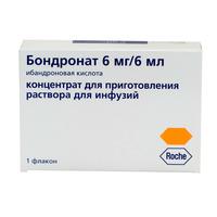 Бондронат ампулы 6 мг, 6 мл, 1 шт.