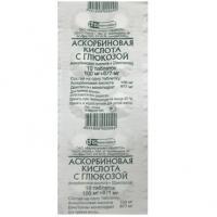 Аскорбиновая кислота с глюкозой таблетки, 10 шт.