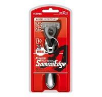 Бритвенный станок Feather мужскойс тройным лезвием F-System Samurai Edge 2 кассеты 1 шт.