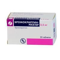 Бромокриптин-рихтер таб. 2,5мг №30