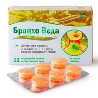 Бронхо Веда леденцы травяные со вкусом имбиря 12 шт.