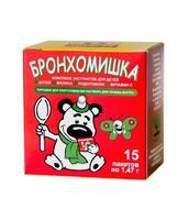 Бронхомишка микстура сухая от кашля для детей пакеты 1,47 г 15 шт.